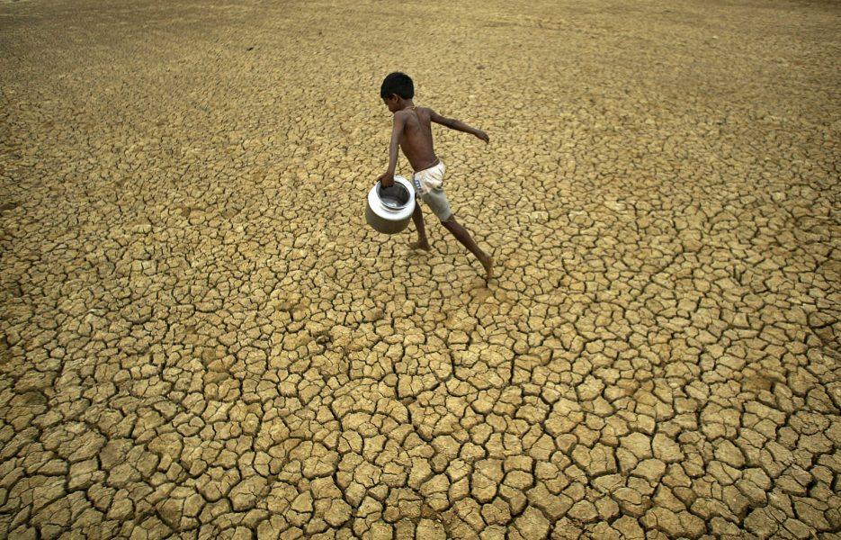 Det råder vattenbrist på flera håll i Indien.