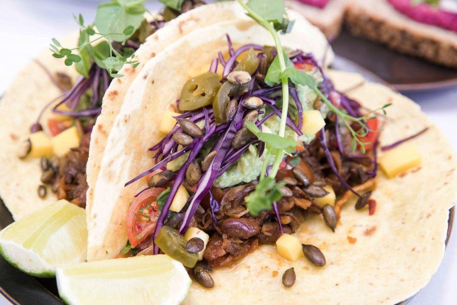 Vegetarisk taco.