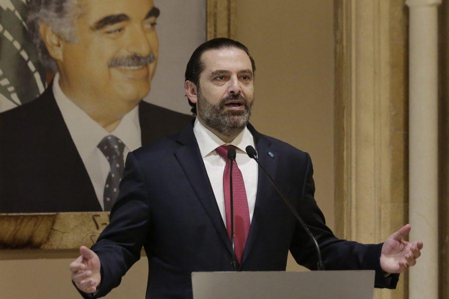 Libanons premiärminister Saad al-Hariri meddelade i ett tal till nationen att han avgår.