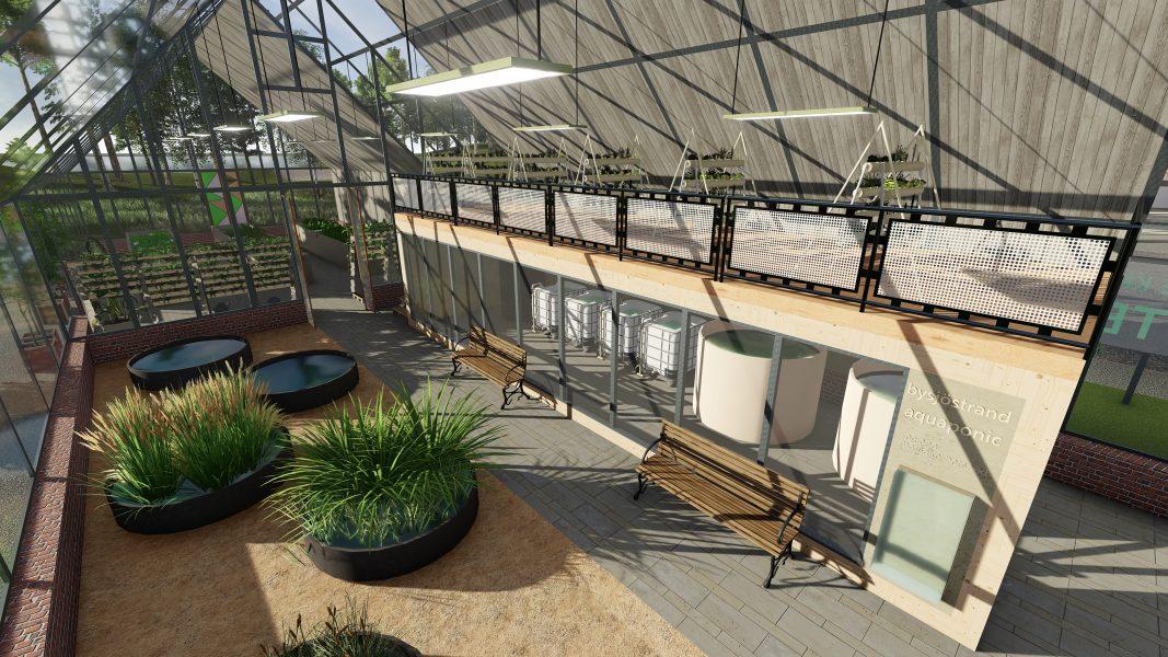 Vattenreningsverket i kretsloppshuset som det är tänkt att se ut enligt byggplanerna i Bysjöstrand ekoby.