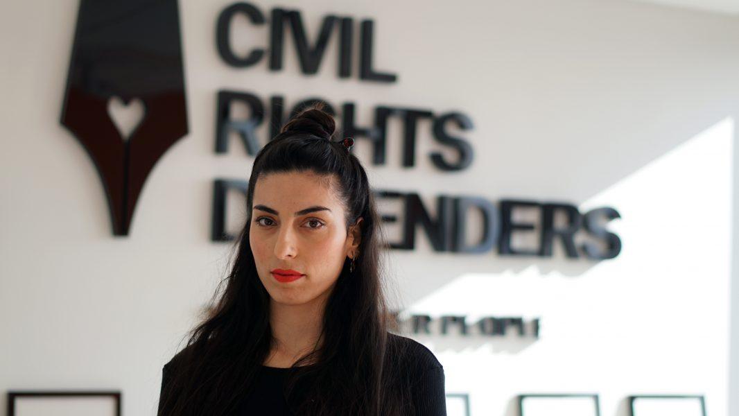 Aida Samani, människorättsjurist hos Civil Rights Defenders.