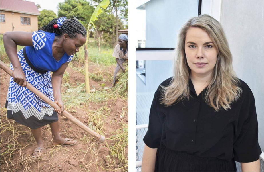 Till vänster: Reinier Oorsouw driver ett småskaligt jordbruk i Uganda, som hon ställt om till att vara helt kemikaliefritt och agroekologiskt.