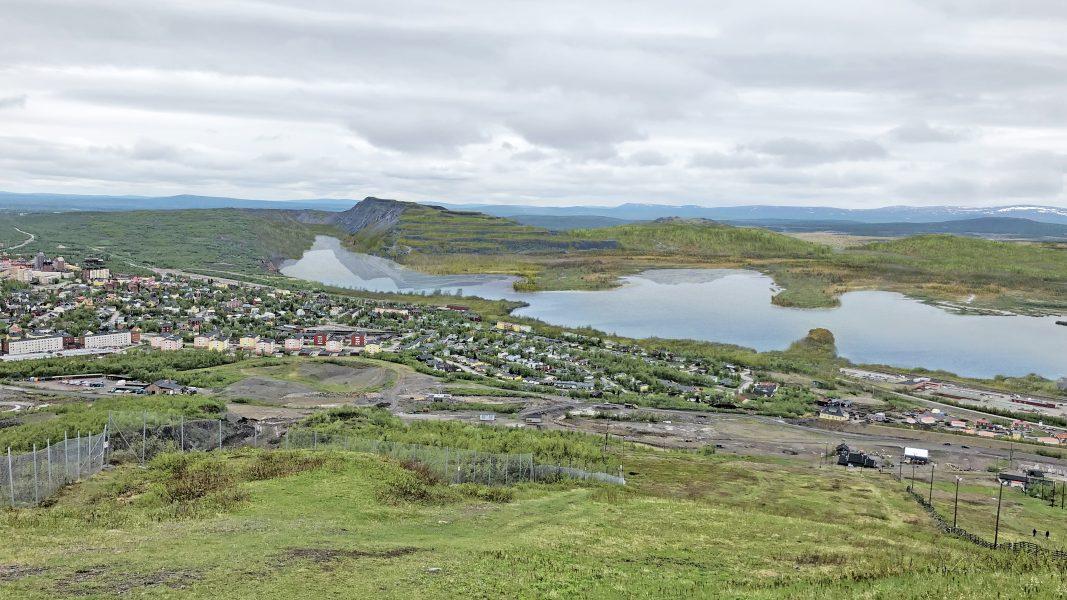 Målbild för hur gruvindustriområdet i Kiruna förväntas se ut om cirka 150 år.
