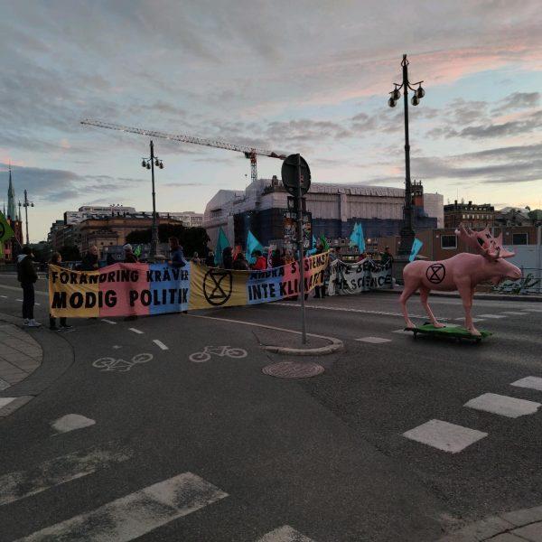 Vasabron i Stockholm tidigt på fredag morgon.