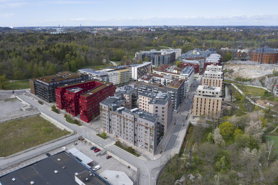 I Norra Djurgårdsstaden i Stockholm har man arbetat mycket med hållbarhet.