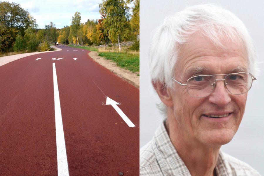 I naturreservatet Lugnet i Falun har man bland annat byggt en asfaltväg för träning med rullskidor, något som falubon Bernt Lindberg vänder sig kraftigt emot.