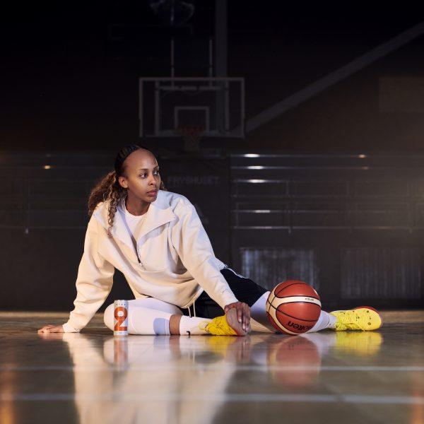 Farhiya Abdi började spela basket som 12-åring och har bland annat spelat i amerikanska WNBA.
