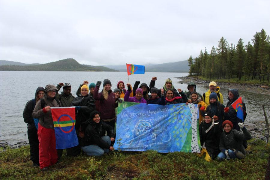 Carmen Blanco Valer På besök i Sápmi, med kursen om Naturens rättigheter och Det goda livet.
