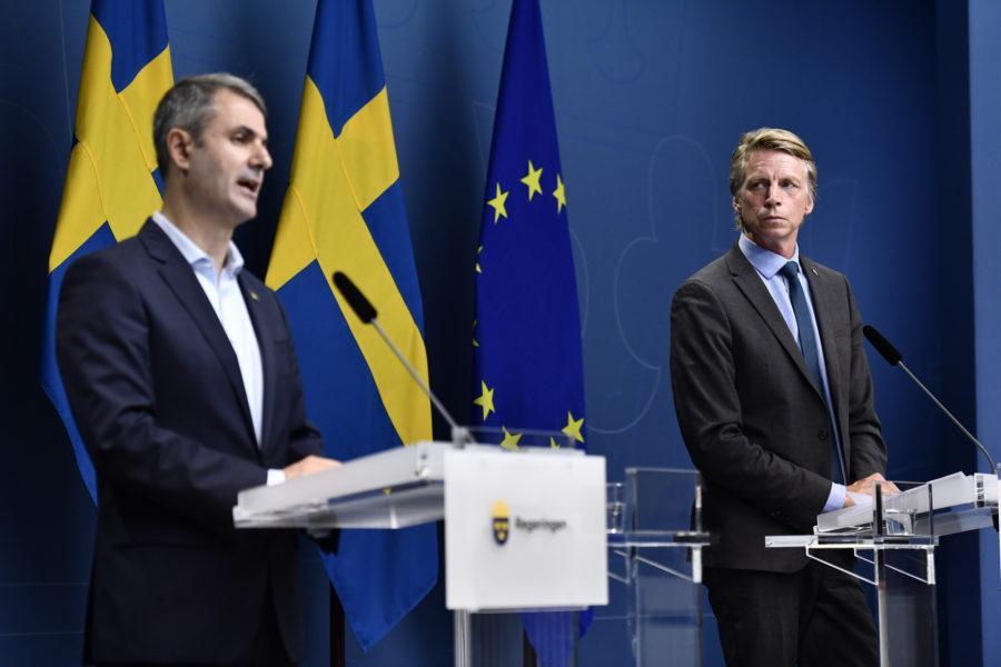 Näringsminister Ibrahim Baylan och miljöminister Per Bolund meddelade på tisdagen att Cementas brytningstillstånd förlängs i åtta månader.